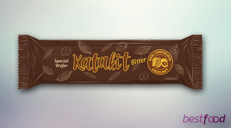 Katakit Special Bitter Çikolata Kaplamalı Gofret 40g