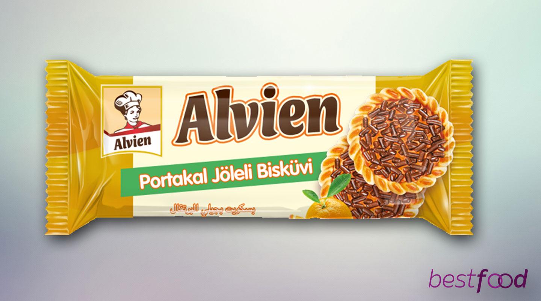 ALVIEN PORTAKAL AROMALI JÖLELİ BİSKÜVİ 65GX24X6
